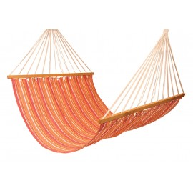 Double Size XL Canvas Hammock - Tropical stripe
