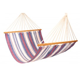 Double Size XL Canvas Hammock - Blue stripe