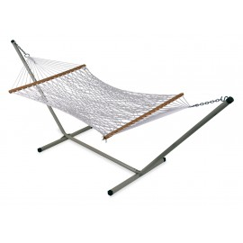 COTTON ROPE HAMMOCK WITH HAMMOCK STAND