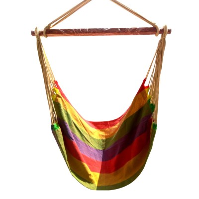 Fabric Portable Hammock Swing - Rainbow