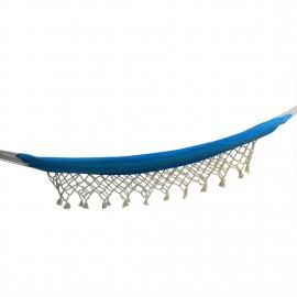 Ocean Striped Brazilian Fabric Hammock With Natural Fringes
