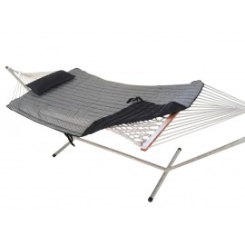 COTTON ROPE HAMMOCK WITH HAMMOCK STAND, PAD & PILLOW