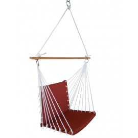 PREMIUM CUSHIONED SWING CHAIR - BRICK RED