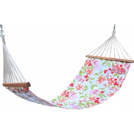 11'FT COTTON FABRIC HAMMOCK - FLORAL PRINTED