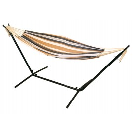 Double Canvas Hammock with 9ft Steel Hammock stand