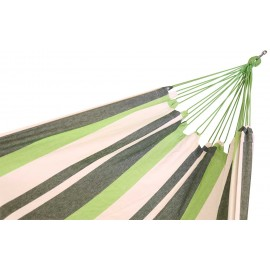 60 inch Wide XL Double Brazilian Canvas Hammock - Garden Stripe