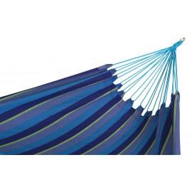 60 inch Wide XL Double Brazilian Canvas Hammock - Ocean Stripe