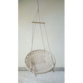 Natural Cotton Macrame Round Swing