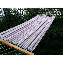 11'FT COTTON FABRIC HAMMOCK - PINK STRIPES