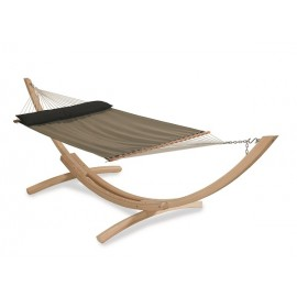 Swimming pool Side Use QUICK DRY Fabric Hammock Furniture - Brown