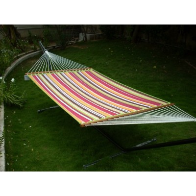 13'FT QUILTED FABRIC HAMMOCK - MULTI STRIPE
