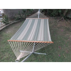 GARDEN STRIPED QUILTED HAMMOCK FURNITURE WITH HAMMOCK STAND