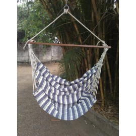 Peacock Striped Indoor Hanging Swing Chair For Home For Adults