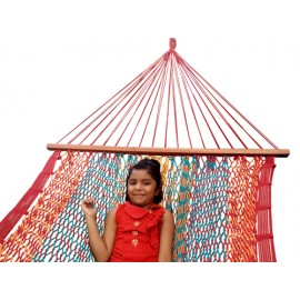 Rainbow Striped Mexican Portable Rope Hammock India