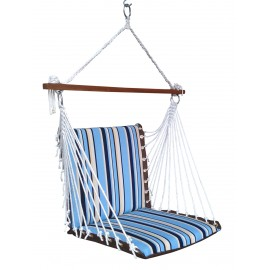 Premium Indoor Swing Chair - Cool Blue Stripe